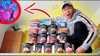 Melting Every Ice Cream Flavor Together Science Experiment THIS IS WHAT HAPPENS!!!