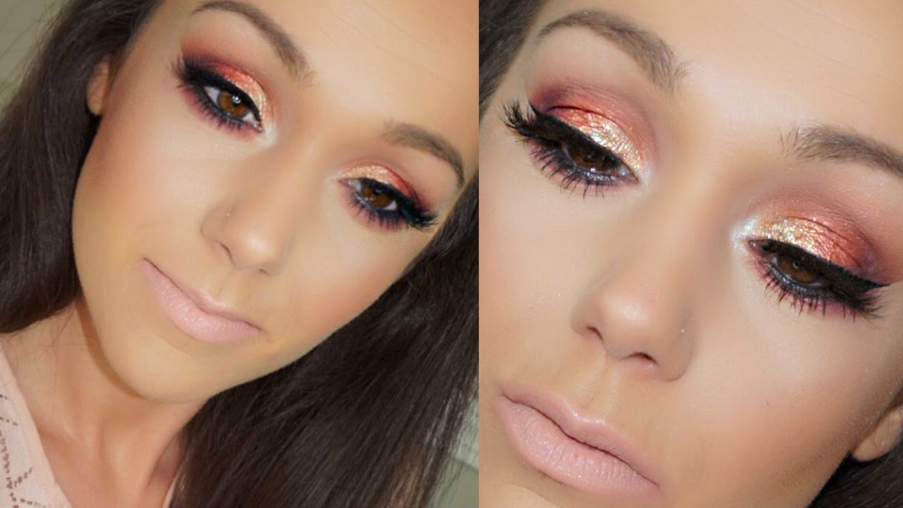 Sunset eye makeup tutorial prom makeup hooded eyes youtube baditri Image collections
