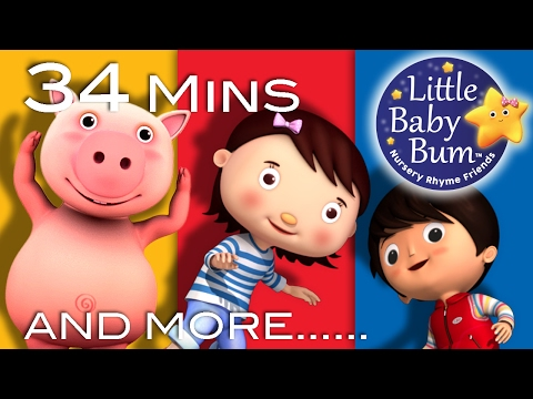 Action Songs | Plus Lots More Nursery Rhymes | 34 Minutes Compilation from LittleBabyBum!