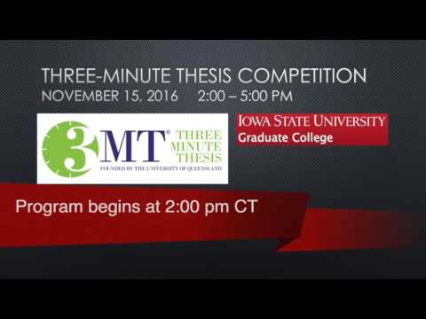 Iowa State University: 3-Minute Thesis Competition