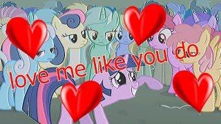 Love Me Like You Do   PMV Karaoke Version (Pony Music Video)