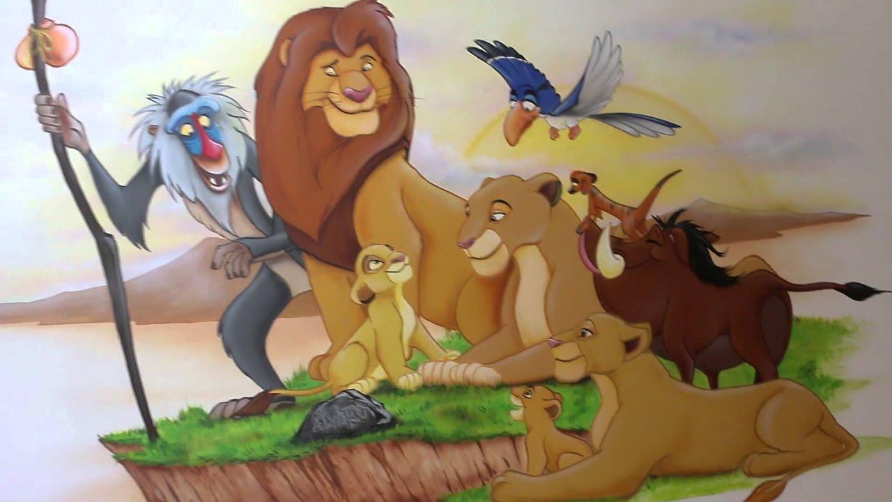 Decoracion Infantil Del Rey Leon ~ mural del rey le?n  YouTube