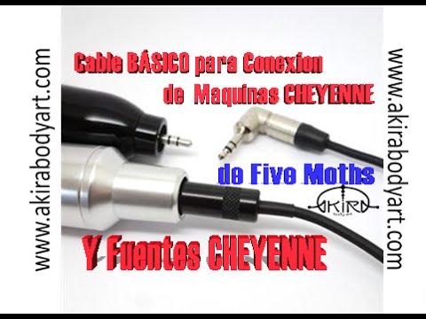 Cable BÁSICO Para CHEYENNE(maquina Y Fuente) De FIVE MOTHS Tattoo En Akira Body Art