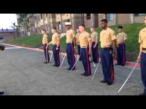 Nco sword drill and movements