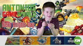 Lego Nexo Knights characters day - fun with favourite Nexo Knights mini figures and vehicles!