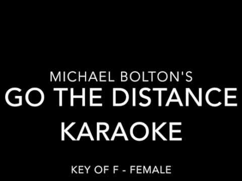Go the Distance Karaoke in Key of F - Female Version