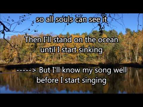 A Hard Rain's A-Gonna Fall - Karaoke with climate change lyrics