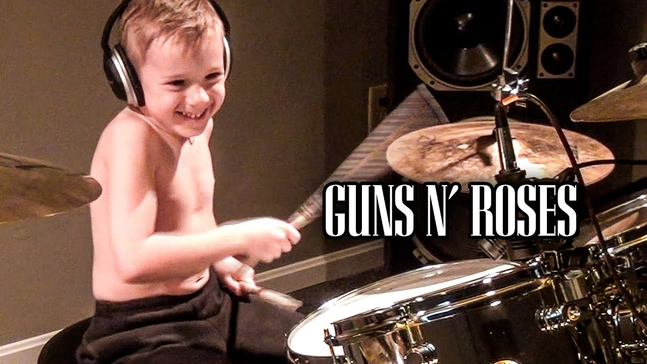 Download Welcome to the Jungle (6 year old drummer)