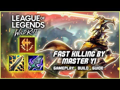 Best Build Master Yi Instant Kill   Master Yi Gameplay LOL Wild Rift