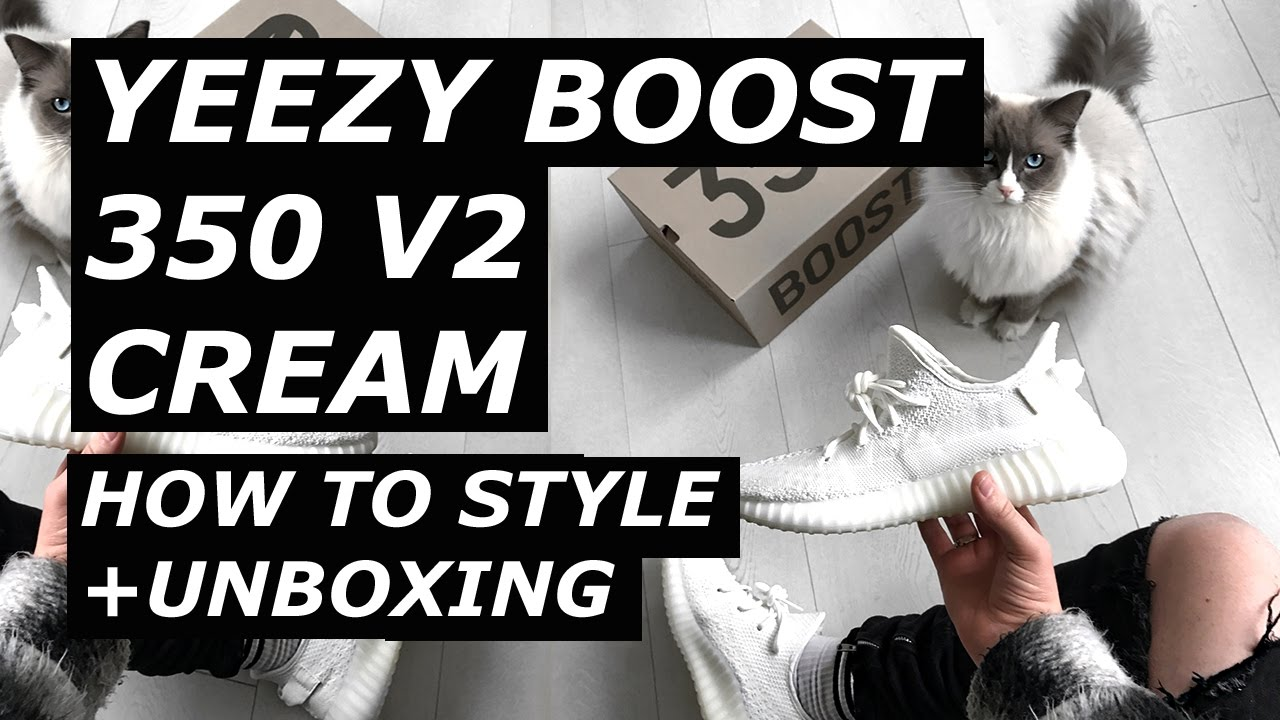 cream yeezys outfit