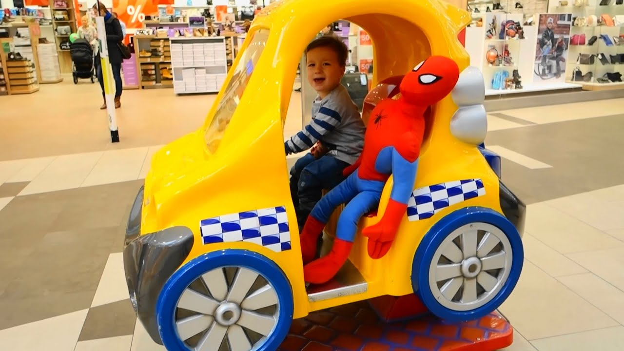 car for kids with spaiderman drive helicopter with spiderman funny kids video youtube. Black Bedroom Furniture Sets. Home Design Ideas