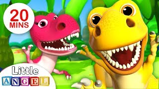 We are the Dinosaurs, Dinosaur Dance & more Fun Kid Songs and Nursery Rhymes by Little Angel thumbnail