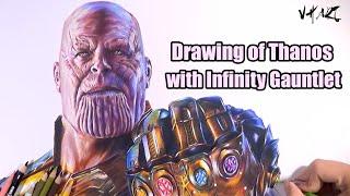 Drawing Thanos infinity gauntlet   vh art