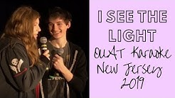 "Jared Gilmore sings ""I See the Light"" with girlfriend, Jessica."