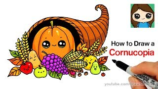 How to Draw a Cornucopia Easy
