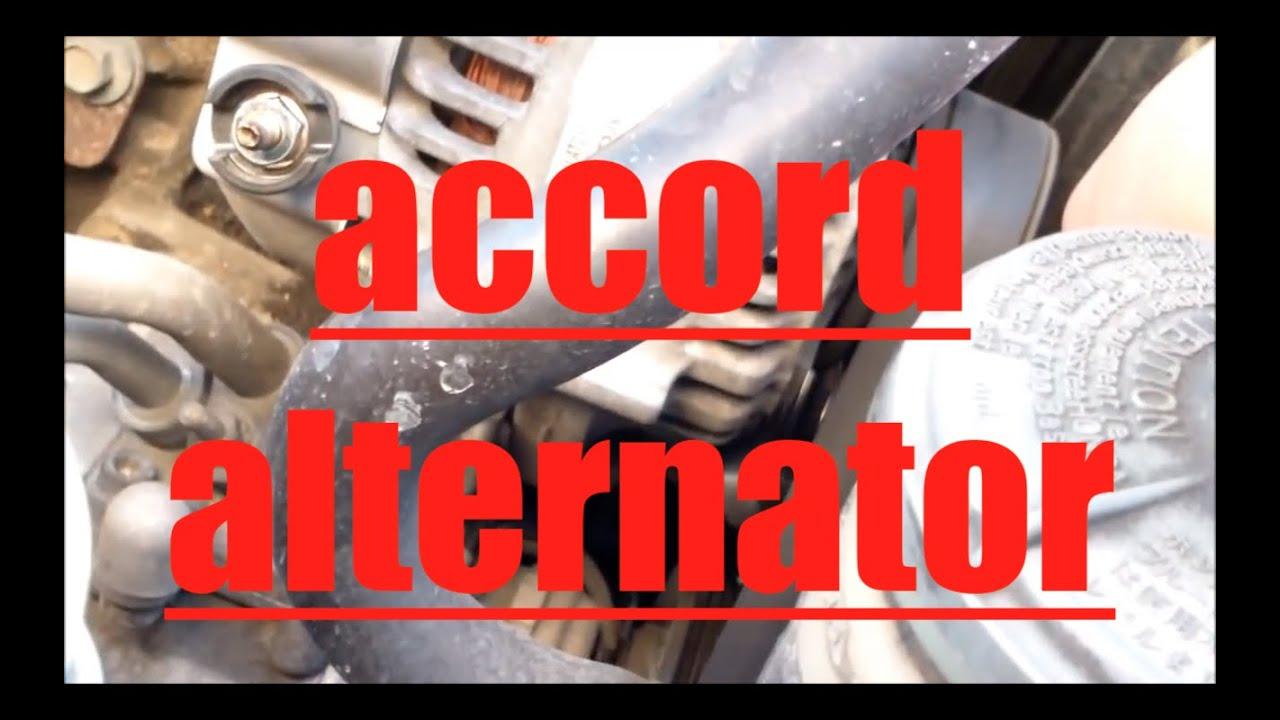 2001 Honda Accord Radio Code >> How to replace alternator Honda Accord √ - YouTube