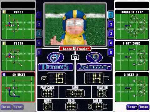 Backyard Football Plays backyard football 2002 gameplay - youtube
