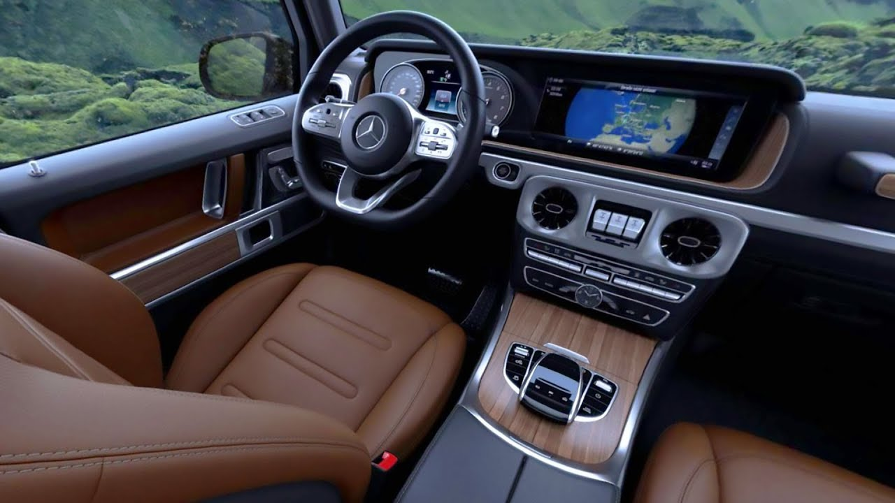 2018 G550 Interior >> 2019 G-class w464 interior - nut brown leather and walnut wood trim - YouTube