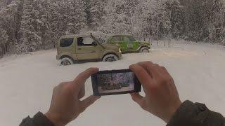 Suzuki Jimny & Niva в зимнем лесу