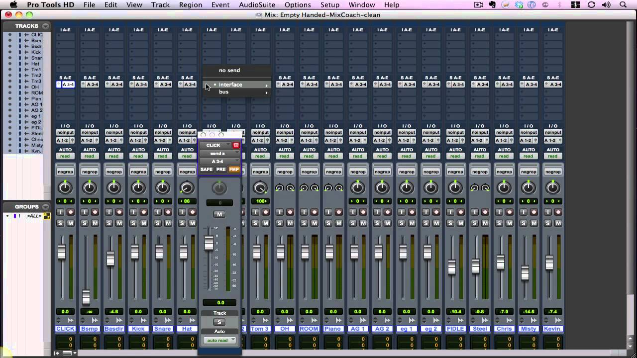 Setting Up A Headphone Mix In Pro Tools 8 9 Youtube