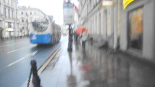 Невский проспект в дождь