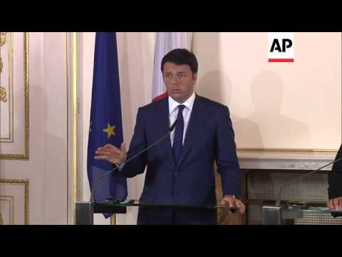 Italian PM on immigration and  EU banking sector during visit