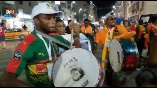 صلاح يظهر في احتفالات الكاميرون بعد الفوز على غينيا بيساو بـ أمم أفريقيا