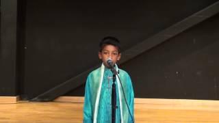 Rajarshi Mandal performing Poet Sukumar Ray