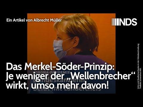 """Das Merkel-Söder-Prinzip: Je weniger der """"Wellenbrecher"""" wirkt, umso mehr davon! A. Müller, 03.12.20"""