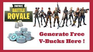 Fortnite Free Vbucks Generator 2019 - Battle Royale Hack Vbucks 2019 Method (100% Working)