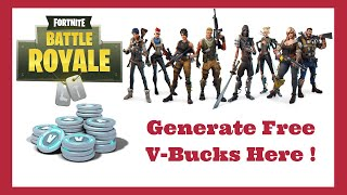 Fortnite Free Vbucks Generator 2019 - Battle Royale Hack Vbucks 2019 Méthode (100% De travail)