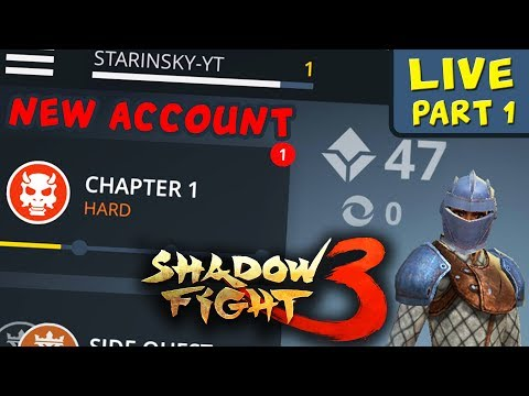 Shadow Fight 3 Live Stream #1. Starting a New Account. First Boss, First Rewards, First Struggle...