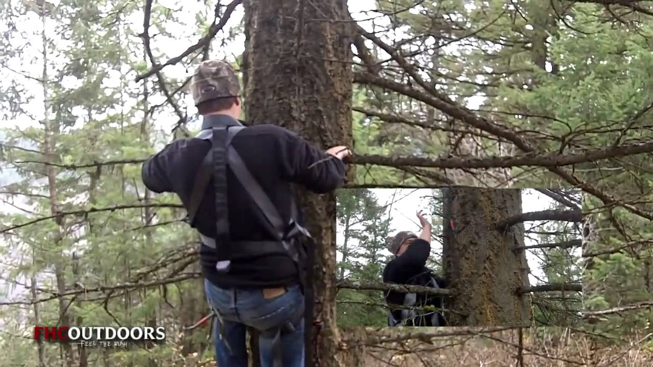 How To Hang A Tree Stand Youtube