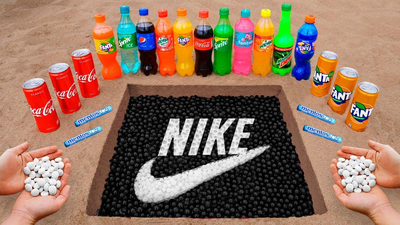 Nike Logo in the Hole with Orbeez, Coca Cola, Mentos & Popular Sodas