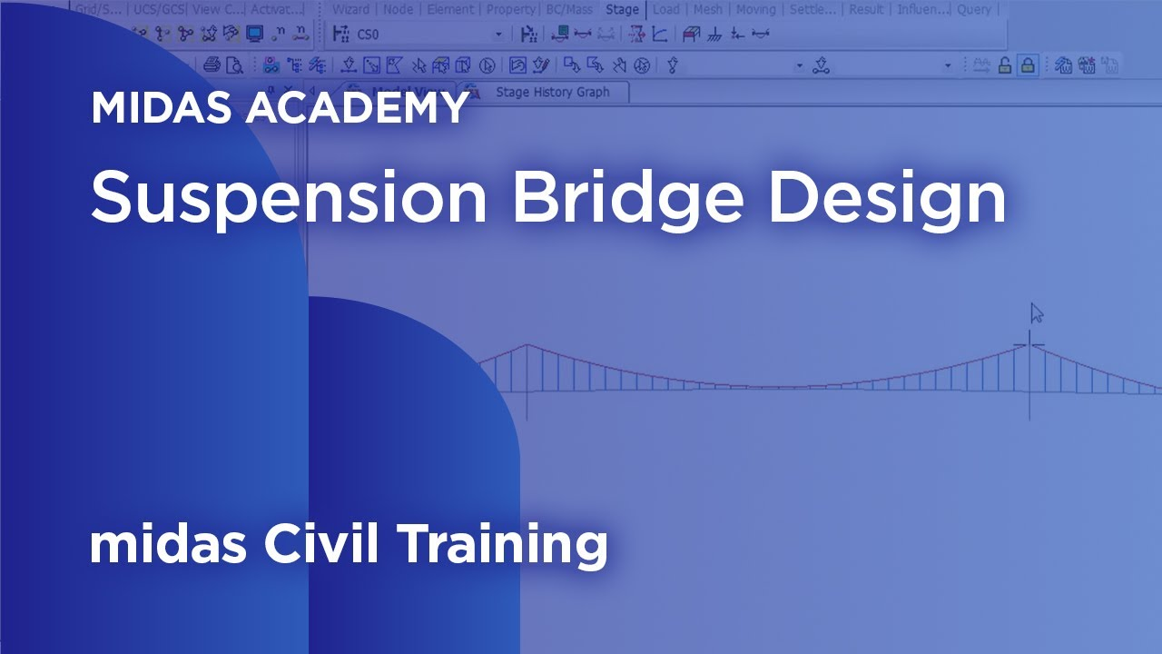 Suspension Design Report Suspension Bridge Design Midas Civil Online Training