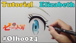 Como Desenhar Olho da Elizabeth Nanatsu no Taizai - How to Draw Elizabeth Eye