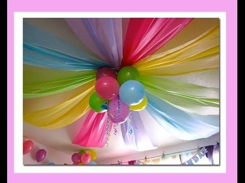 Como decorar cumplea os con globos youtube - Como decorar un cumpleanos ...