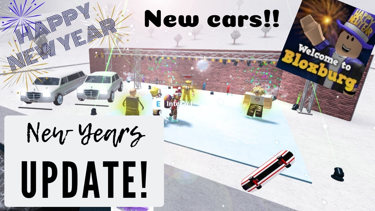 Huge Bloxburg Map Update New Cars Locations Roblox Roblox Bloxburg New Years Update New Cars Ice Skating Disco Ball More Youtube