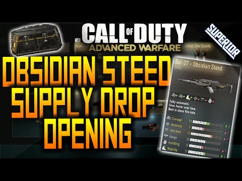 Advanced Warfare: BAL-27 OBSIDIAN STEED SUPPLY DROP! Funny Reaction! (COD: AW ELITE Supply Drop)