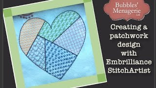 Creating a patchwork style embroidery design using Embrilliance StitchArtist