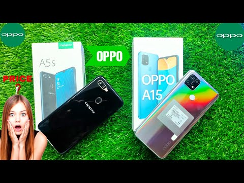 OPPO A5s (Black, 4 GB RAM) OPPO A15 (Rainbow Silver, 2GB RAM ) Unboxing || Comparsion || Camera