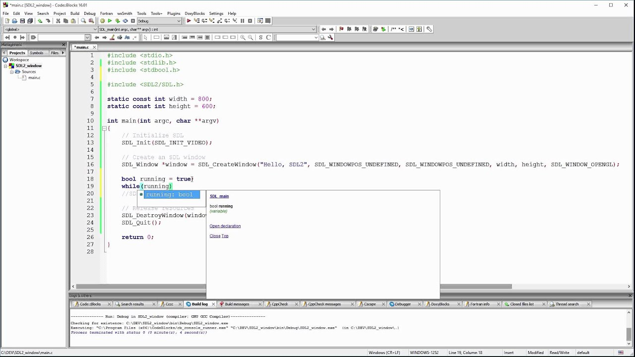 C Game Development with SDL 2 - Creating a window