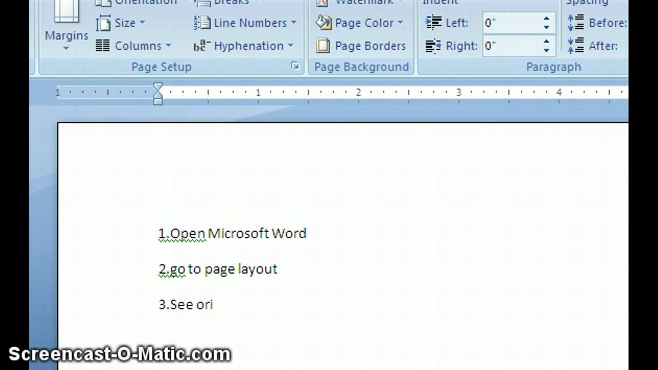 Microsoft Word Document How To Rotate The Paper