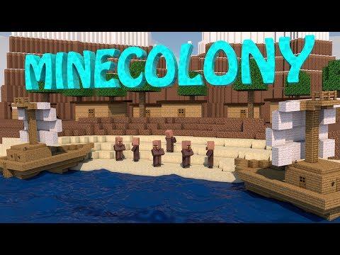 Minecraft   MINECOLONY KINGDOM MOD Showcase! (Village Mod, Boat Mod, Build a Kingdom)
