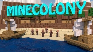 Minecraft | MINECOLONY KINGDOM MOD Showcase! (Village Mod, Boat Mod, Build a Kingdom)