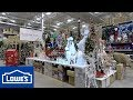 CHRISTMAS 2018 AT LOWE'S - CHRISTMAS TREES ORNAMENTS DECORATIONS HOME DECOR INFLATABLES SHOPPING 4K