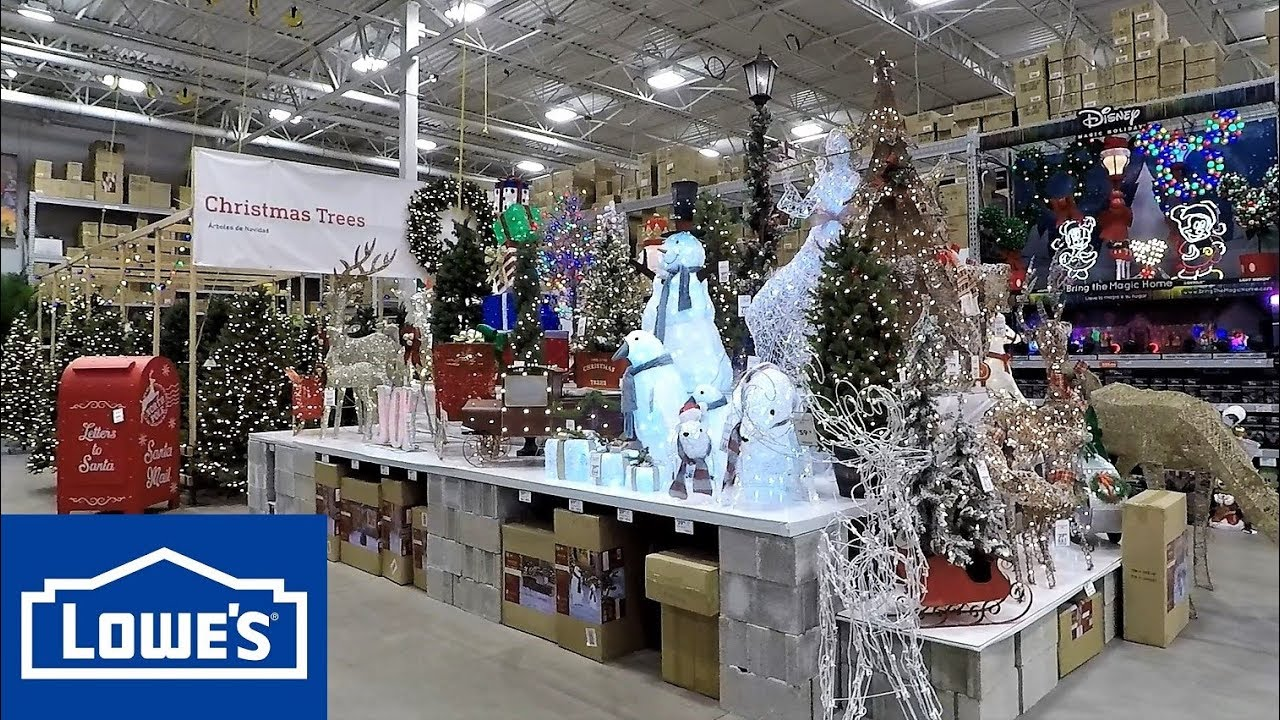 Lowes Christmas.Christmas 2018 At Lowe S Christmas Trees Ornaments Decorations Home Decor Inflatables Shopping 4k