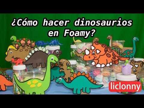 dfdc363bc ¿Cómo hacer dinosaurios en foamy y dulceros para una fiesta infantil?.  #Manualidades. liclonny - YouTube