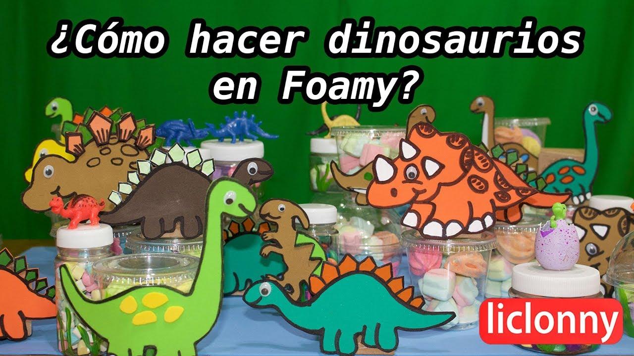 Cómo hacer dinosaurios en foamy y dulceros para una fiesta infantil ...