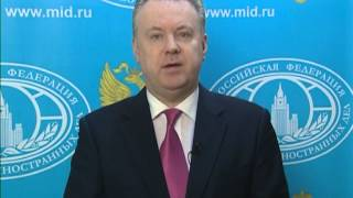April 30, 2013 Russia_Russian Foreign Ministry comments on threatened plane over Syria